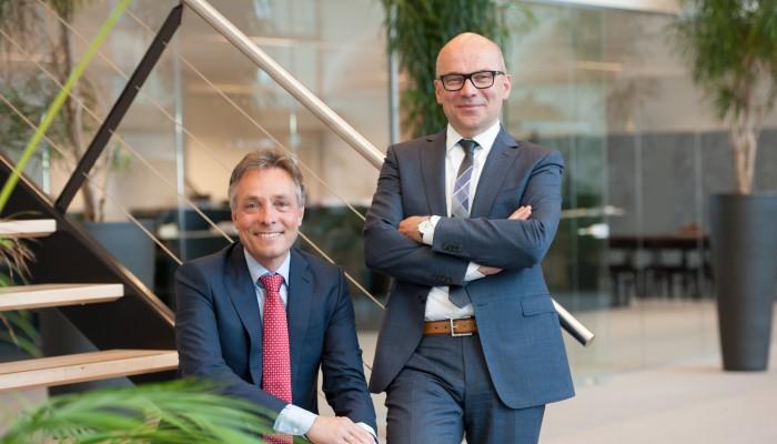 Frans van der Linde en Jan van der Windt, directeuren/aandeelhouders Zonneveld Ingenieurs